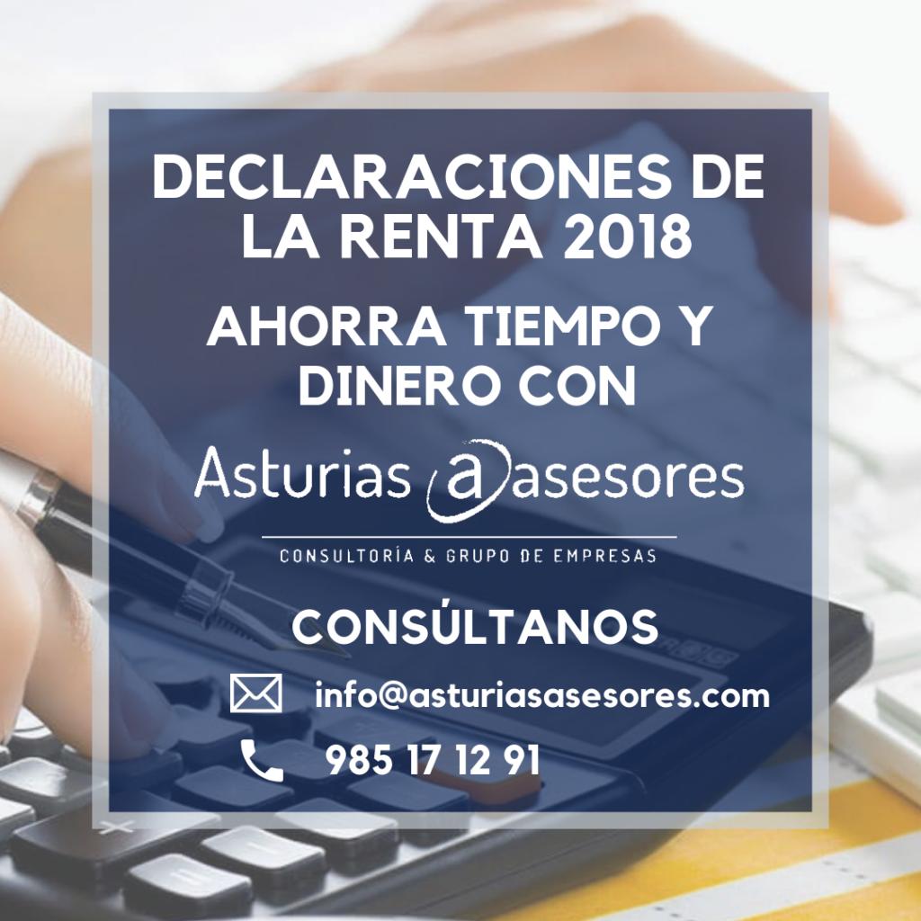 Declaración de la renta 2018 | Asturias Asesores